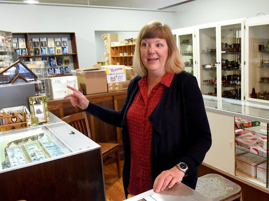 Owner Leslie Freed talks about her business, Ware House Miniatures, during an interview in downtown Staunton on Wednesday, Aug. 30, 2017. The shop will sell dollhouses as well as dollhouse furnishings and accessories.