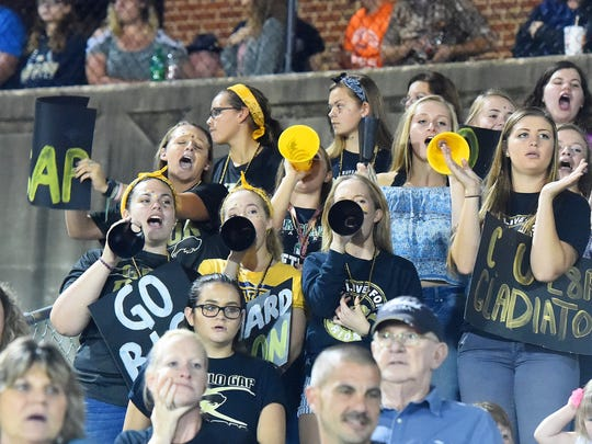 Buffalo Gap student fans cheer for their team during