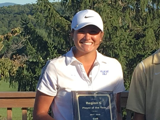 Rockbridge's Grace Huffman shot a 75 to win the individual championship at Monday's 3A Region C golf championship. Rockbridge also won the team title.