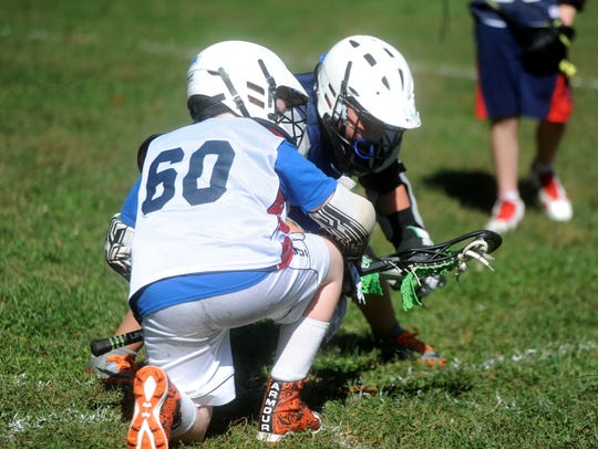 Players in the Wolves Lacrosse recreational program