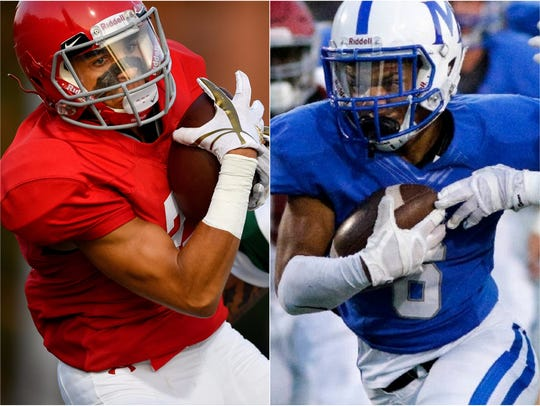 Brentwood Academy's Camron Johnson (left) and McCallie's