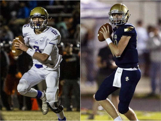 CPA quarterback Ryan Eledge (left) and Independence