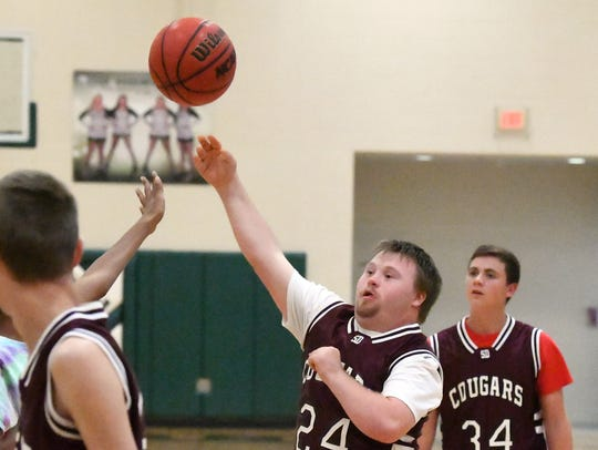 Stuarts Draft's Andrew Weidner shoots during one of