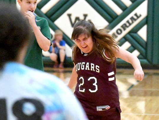 Stuarts Draft's Olivia Montgomery shows her excitement