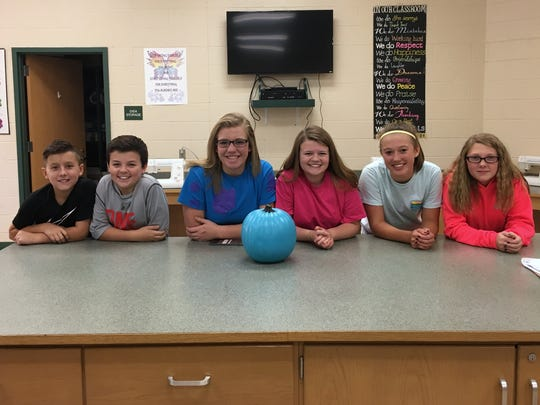 Wilson Memorial High School and Wilson Middle School FCCLA students, from left, Caeden Aleshire, Ethan Hildebrand, Madison Humphreys, Kirsten Hildebrand, Reagan Mundie, and Kadynce Campbell.