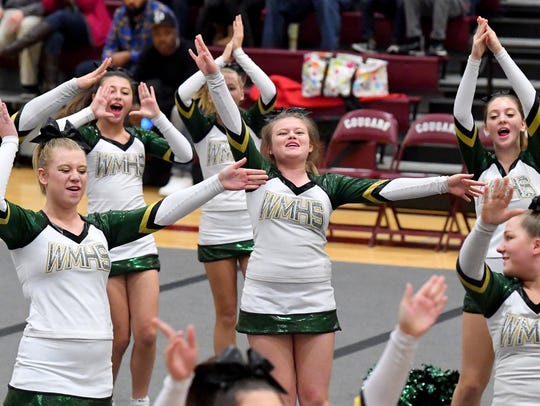 Wilson Memorial's competition cheer team competes in