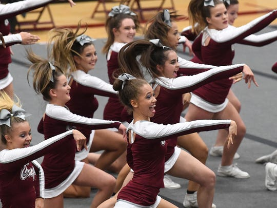 Stuarts Draft's competition cheer team competes in
