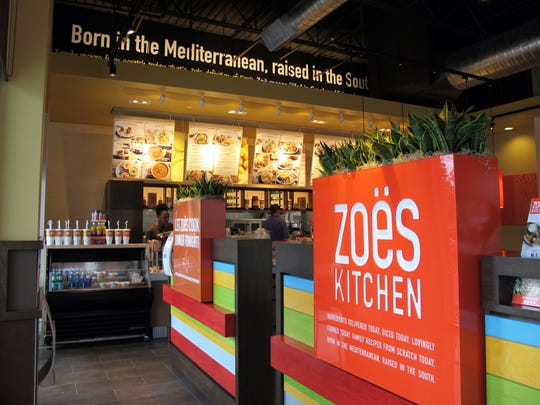 The first regional Zoës Kitchen opened in June in Coconut Trace, 22941 Lyden Drive, Estero.