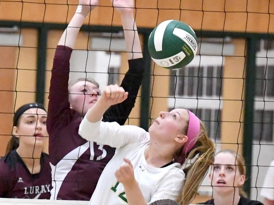 Wilson Memorial's Paris Hutchinson eyes the ball after