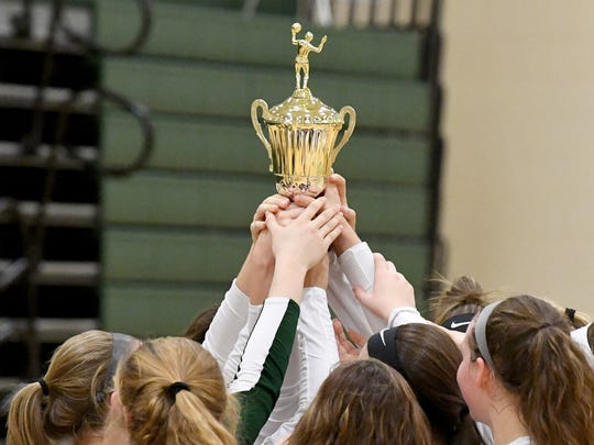 Wilson Memorial players lift the trophy high after