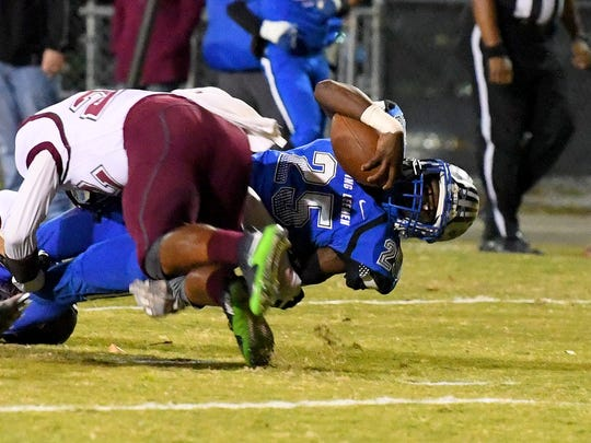 Robert E. Lee's Devin Williams is brought down with