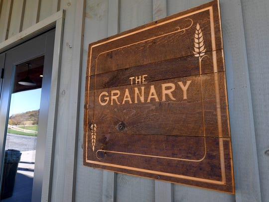 A sign marks The Granary at Valley Pike Farm Market