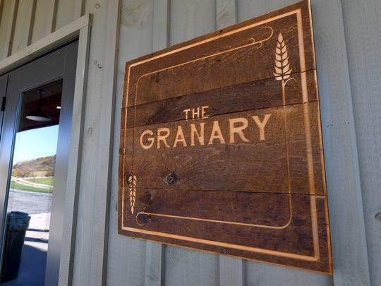 A sign marks The Granary at Valley Pike Farm Market in Weyers Cave.