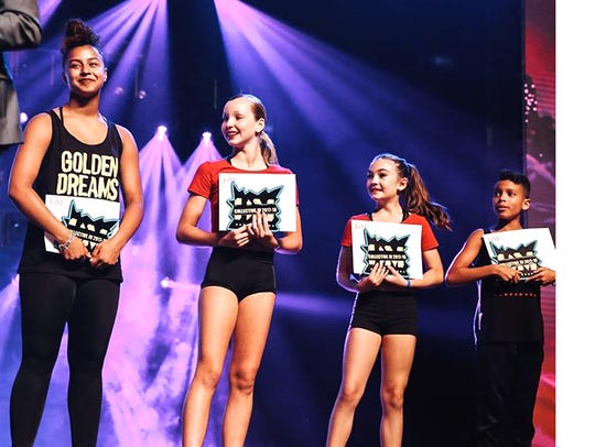 Four dancers, including Fishersville's Ava Wease, were