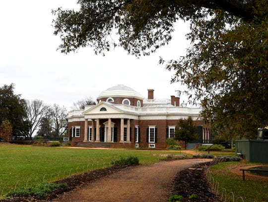 Thomas Jefferson's historic home of Monticello located