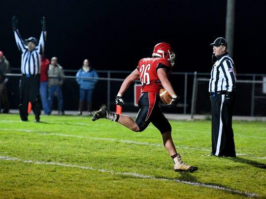 Riverheads' Dalton Jordan makes it into the end zone