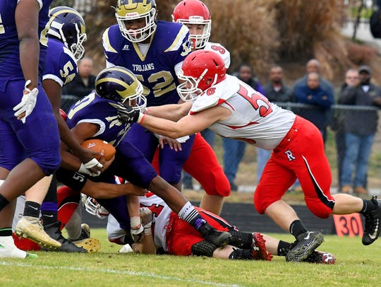 Riverheads' Alex Diehl makes the stop during a Class