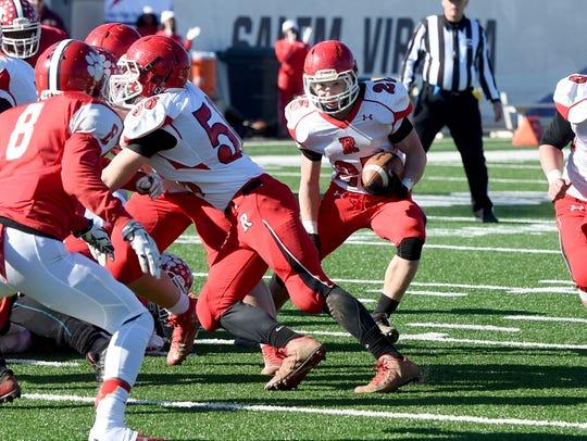 Riverheads' Brett Hostetler finds an opening and runs