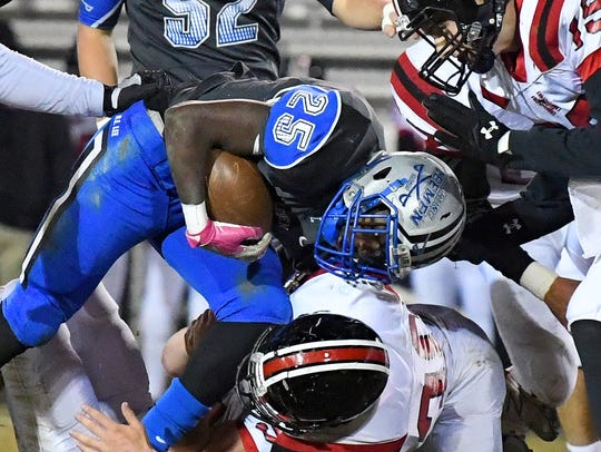 Robert E. Lee's Devin Williams is brought down as three