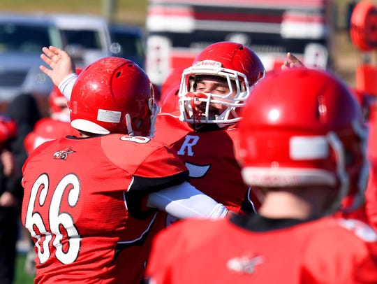 Riverheads' players celebrate having held Chilhowie