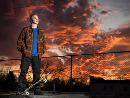 """I'm competitive in anything I do,"" skateboarder Jake Wooten says. ""I'm going to have the highest grades in the class, the first one to finish my lunch. I want to drive the fastest. Anything."""