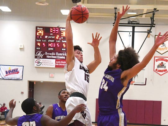 Stuarts Draft's Kasey Branch takes the ball up and