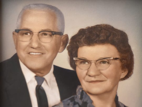 Arthur Klinedinst is seen in this photo with his wife,