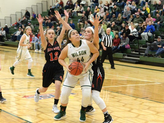 Wilson Memorial's Sarah Sondrol finished with 22 points