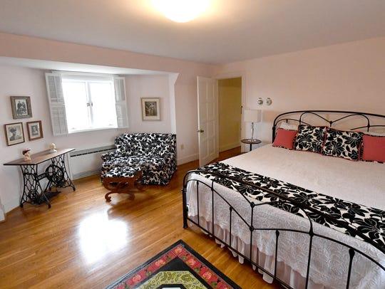 An upstairs bedroom at Gaie Lea, located on Bells Lane
