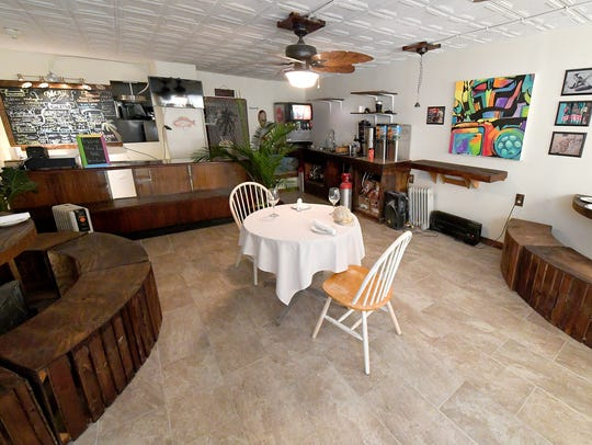 Inside the dining room at Island Sol Cafe.