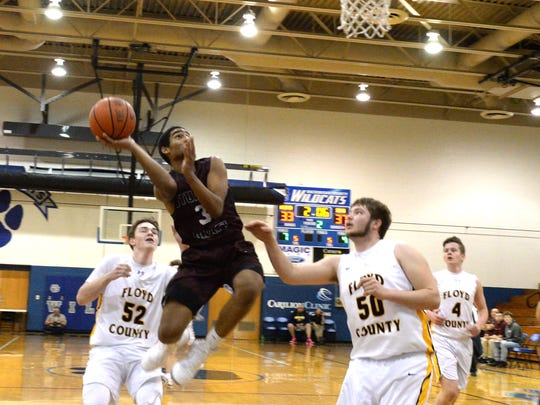 Stuarts Draft's Colin Williams (3) shoots over Floyd