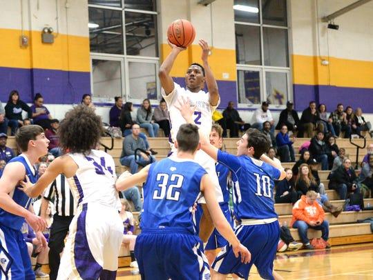 Waynesboro's Dequiondre Clark puts up a shot against