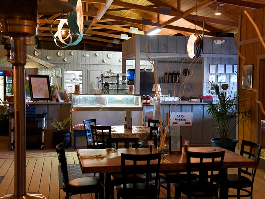The dining area for Acres Eatery, located inside the