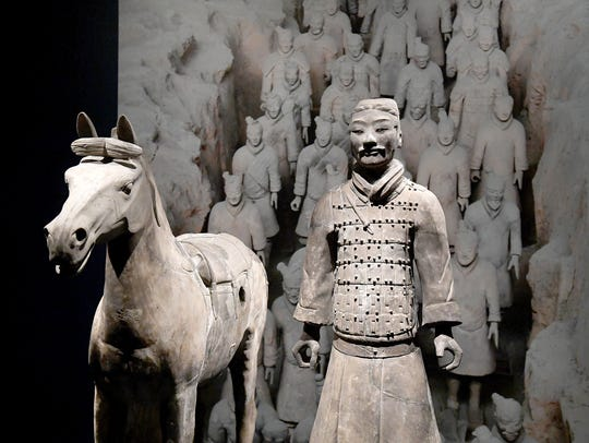 """Cavalry Horse"" and ""Cavalryman"" are two of the figures"
