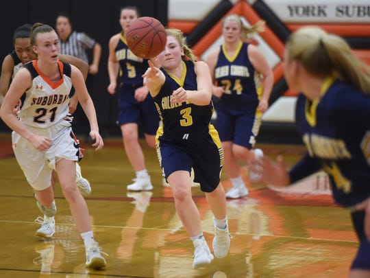 Eastern York's Cass Arnold in action during the Knights'