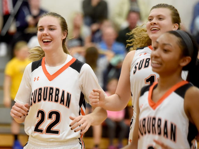 York Suburban's Ali Reinecker, 22, and other members