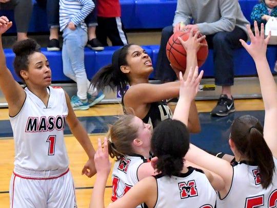 Buffalo Gap's Amaya Lucas looks to the basket to shoot