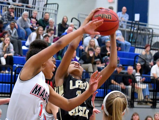 Buffalo Gap's Amaya Lucas looks to the basket to shoot