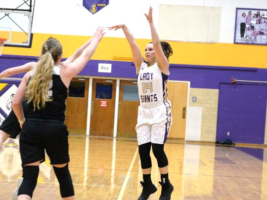 Waynesboro's Sydney Sutton releases a jump shot in
