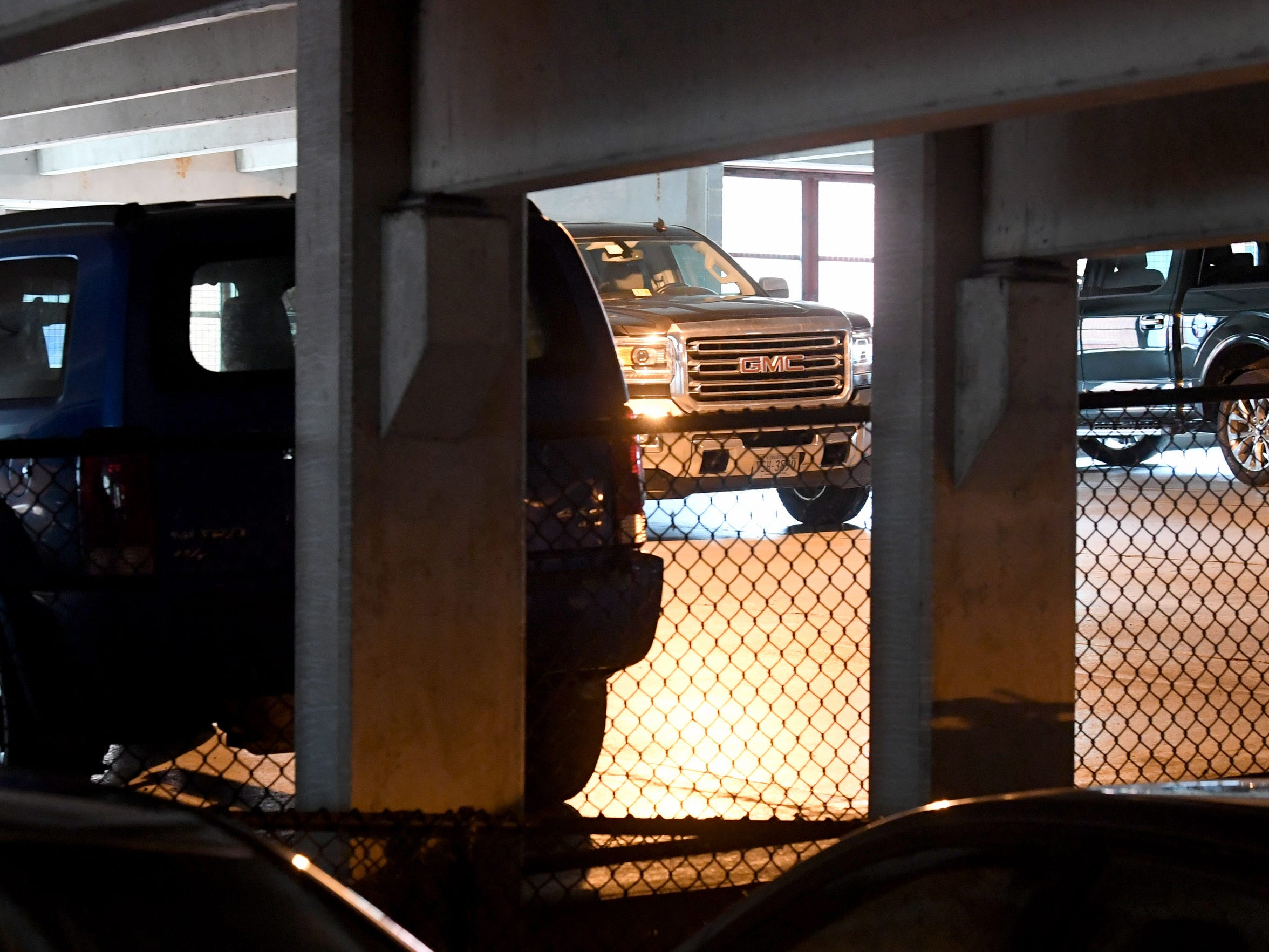 Cars parked inside the New Street parking garage in