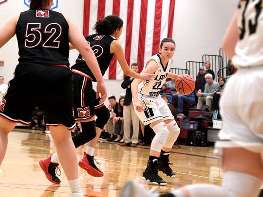 Buffalo Gap's Leah Calhoun has the ball during a VHSL