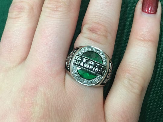 Cassidy Davis shows off her state championship ring