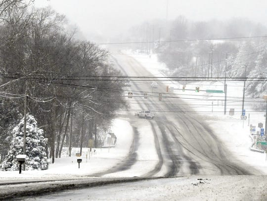 U.S. 250 looking towards Lifecore Drive in Fishersville