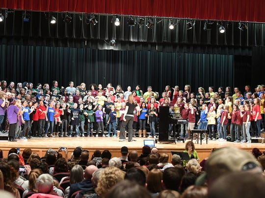 Members of the Augusta County Elementary Honors Choir