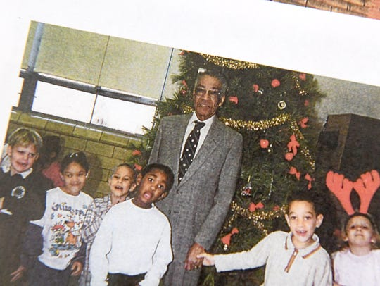 Arthur R. Ware Jr. photographed with students during