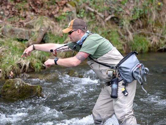 Phillip Kauffman, a Marine who spent eight months in Iraq, is a fly fishing guide and part of Project Healing Waters.