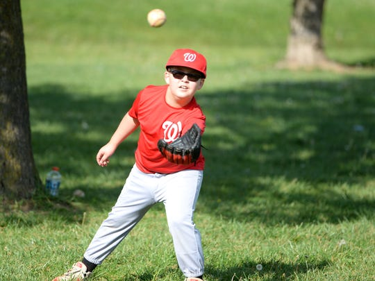 Camden Trujillo, 9, stays active in a lot of sports,