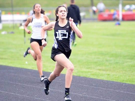 Fort Defiance freshman Sophia Chiles won the 400 at