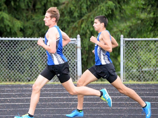 Fort Defiance's Jacob Jones and Ben Harlow finished first and third, respectively, in the 1,600 at Wednesday's Valley District track and field championships.