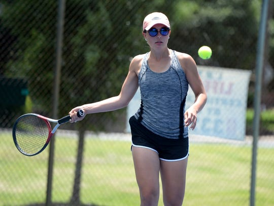 Jessica Milo moved from fifth last year to first this year on the Riverheads tennis ladder. She will play in the Class 1 singles state semifinals Thursday and doubles state semifinals Friday.